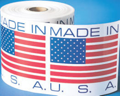 400400USA - Country of Origin Made In U.S.A. Shipping Label