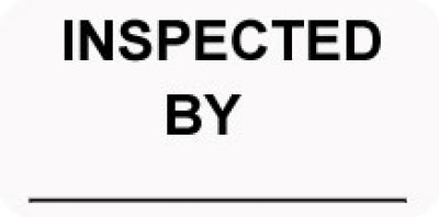 I4 - Inventory Inspected By Shipping Label