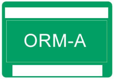 O31 - Other Regulated Material ORM-A Shipping Label