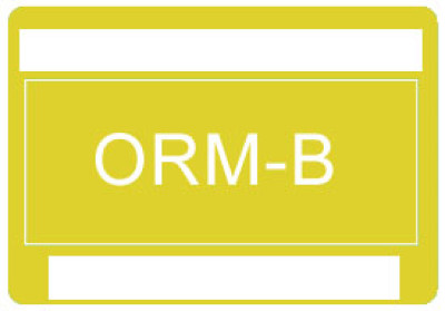 O32 - Other Regulated Material ORM-B Shipping Label