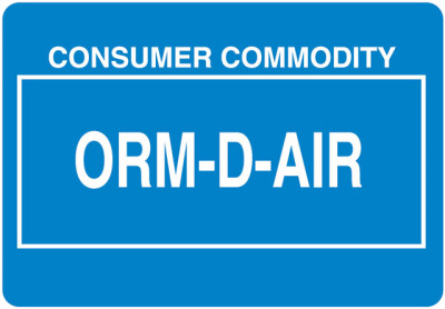 ORM O35 - Other Regulated Material ORM-D-AIR Shipping Label