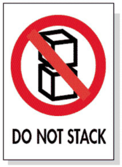 P7 - Packing Do Not Stack Shipping Label