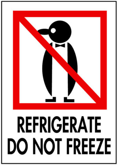 P8 - Packing Refrigerate Do Not Freeze Shipping Label