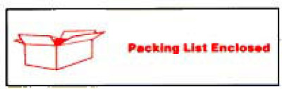 Printed Tape Packing List Enclosed Label