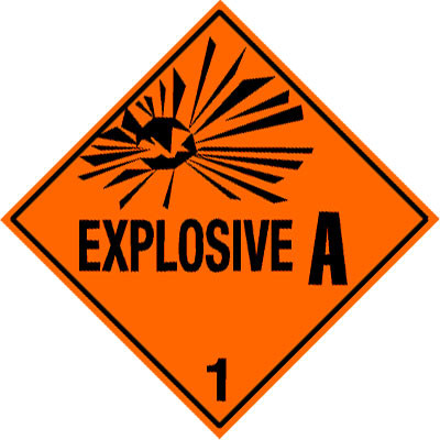 D1 - Warning Explosive 1.1A Shipping Label