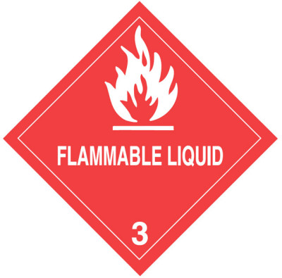 D8 - Warning Flammable Liquid Shipping Label
