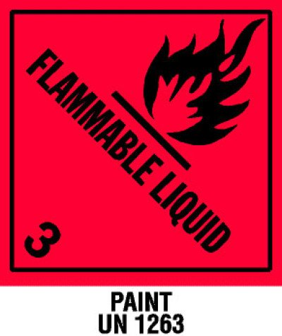 D32-WAR - Warning Flammable Liquid with Note