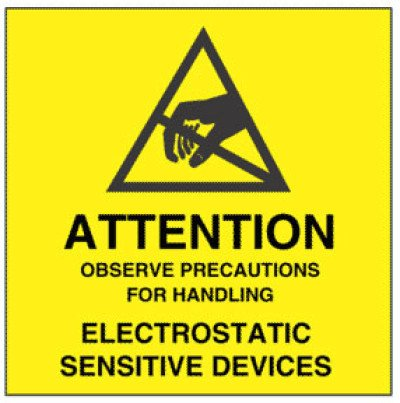 A3 - Warning Observe Precautions for Handling Shipping Label