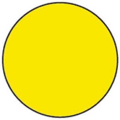 1413YE - Circle Yellow Shipping Label