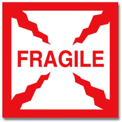 FF44 - Packing Fragile Shipping Label