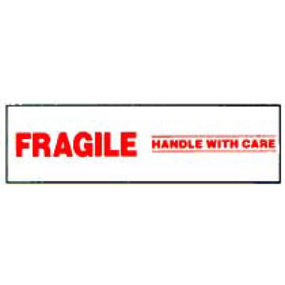 ST-4 - Printed Tape Fragile Shipping Label