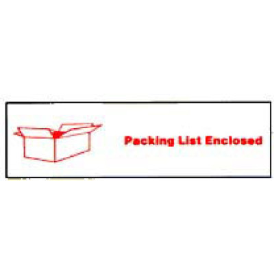 ST-1 - Printed Tape Packing List Enclosed Shipping Label