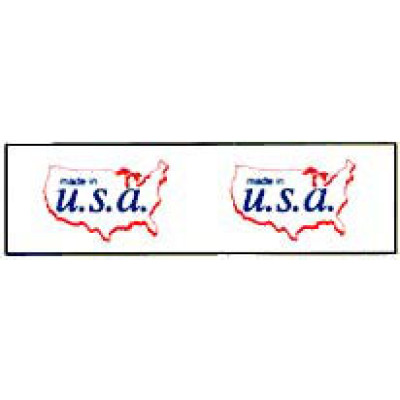 ST-3 - Printed Tape Made In U.S.A. Shipping Label