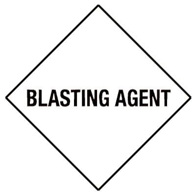 D18 - Warning Blasting Agent Shipping Label