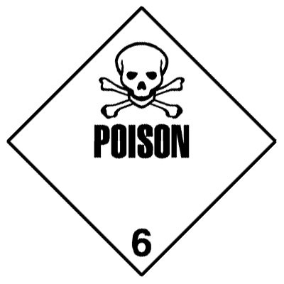 D15 - Warning Poison Shipping Label