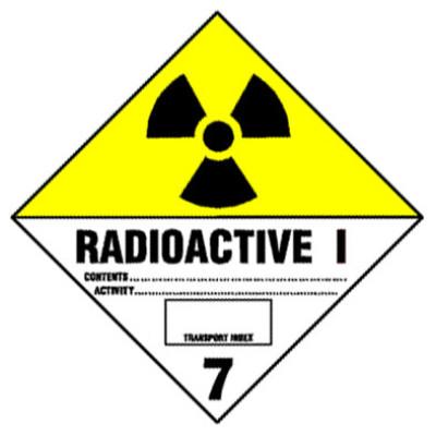 D16 - Warning Radioactive Shipping Label