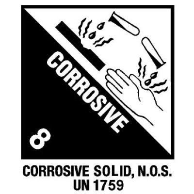 D81 - Warning Corrosive Shipping Label