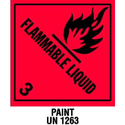 D32-WAR - Warning Flammable Liquid Shipping Label