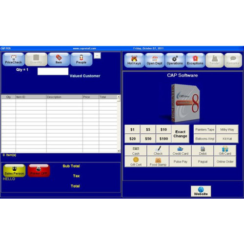 CAP Software Cash n Carry Point of Sale Software