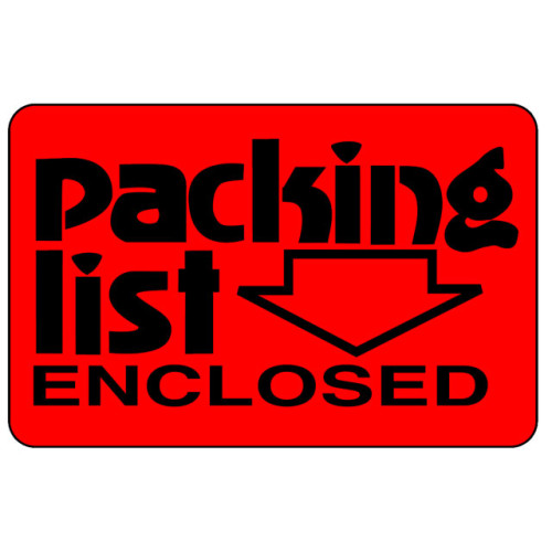 CA23 - Caution Packing List Enclosed Shipping Label