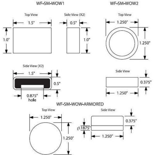 WF-SM-WOW1 - Frick Rectangular Shape Insert Wire or Tie RFID Tag
