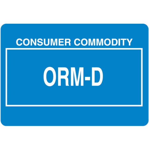 Other Regulated Material ORM-D Label