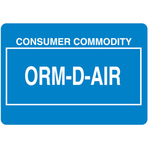 O26 - Other Regulated Material ORM-D-AIR Shipping Label