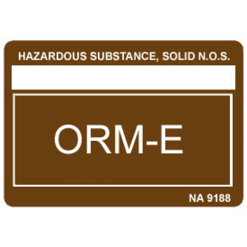 Other Regulated Material ORM-E Label