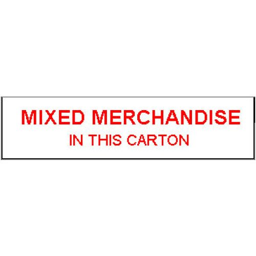 MME - Packing Mixed Merchandise Shipping Label