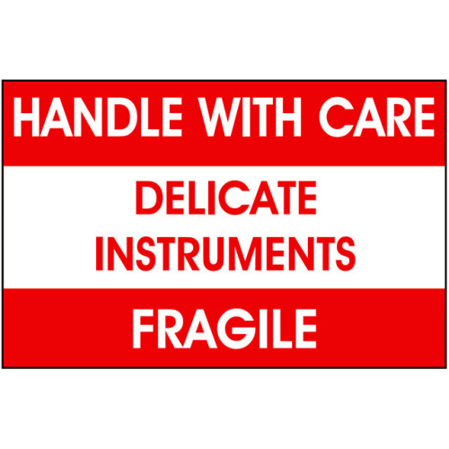 Packing Delicate Instruments Label