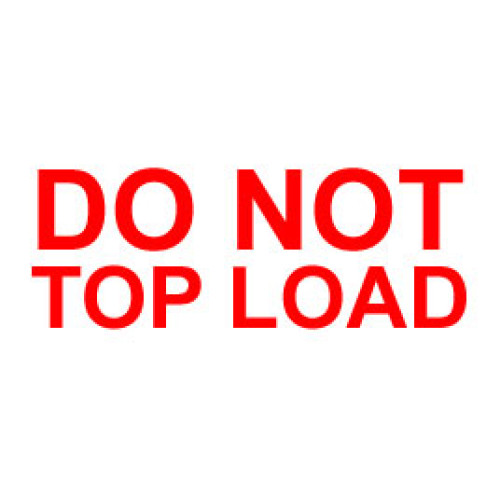 Packing Do Not Top Load Label