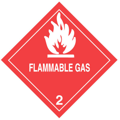 Warning Flammable Gas Label