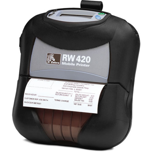 R4D-0UJA000N-00 - Zebra RW 420 Portable Bar code Printer